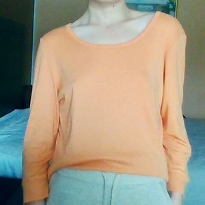 🍊 L.L. Bean Soft Orange 3/4 Sleeve Shirt